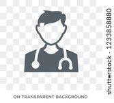 doctor icon. trendy flat vector ... | Shutterstock .eps vector #1233858880
