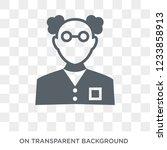 chemist icon. trendy flat... | Shutterstock .eps vector #1233858913