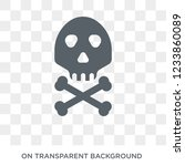 skull and bones icon. trendy... | Shutterstock .eps vector #1233860089