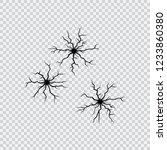 shell holes. cracks set. black...   Shutterstock .eps vector #1233860380