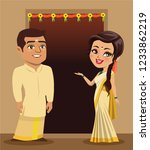a couple from the south indian...   Shutterstock .eps vector #1233862219