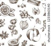 christmas winter spice.... | Shutterstock .eps vector #1233863140