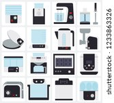 kitchen appliances  flat icons... | Shutterstock .eps vector #1233863326