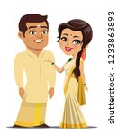 a couple from the south indian... | Shutterstock .eps vector #1233863893