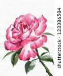 Watercolor Rose Original...