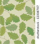 seamless pattern with oak leaves | Shutterstock .eps vector #12338707
