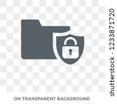 folder security icon. trendy... | Shutterstock .eps vector #1233871720