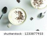 homemade hot chocolate drink... | Shutterstock . vector #1233877933