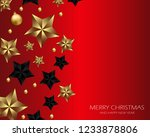 merry christmas and happy new... | Shutterstock .eps vector #1233878806