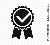 quality check ribbon icon.... | Shutterstock .eps vector #1233880180