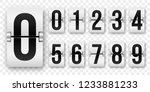 countdown numbers flip counter. ... | Shutterstock .eps vector #1233881233