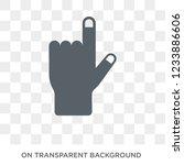 hand gesture raising the index... | Shutterstock .eps vector #1233886606