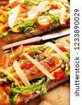chicken sandwich on fresh bread ... | Shutterstock . vector #1233890029