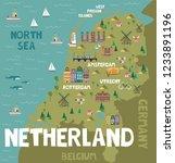 illustration map of netherland... | Shutterstock .eps vector #1233891196