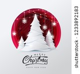 merry christmas and happy new... | Shutterstock .eps vector #1233892183