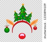 funny mask with christmas... | Shutterstock .eps vector #1233894109