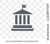 government icon. trendy flat... | Shutterstock .eps vector #1233897559