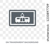 tram sign icon. trendy flat... | Shutterstock .eps vector #1233897709