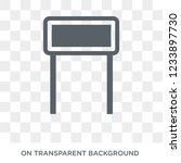 tall sign icon. trendy flat...   Shutterstock .eps vector #1233897730