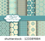 set of vector pattern paper for ... | Shutterstock .eps vector #123389884