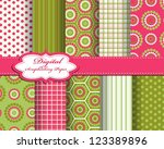 Set Of Vector Pattern Paper Fo...