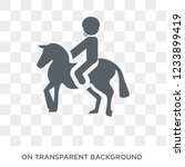 equestrianism icon. trendy flat ... | Shutterstock .eps vector #1233899419