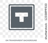 crossroad sign icon. trendy... | Shutterstock .eps vector #1233899533