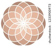 hypnotic round ornament like a... | Shutterstock .eps vector #1233900973