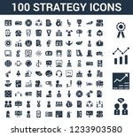 100 strategy universal icons... | Shutterstock .eps vector #1233903580