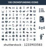 100 crowdfunding universal...   Shutterstock .eps vector #1233903583