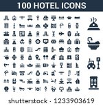 100 hotel universal icons set... | Shutterstock .eps vector #1233903619