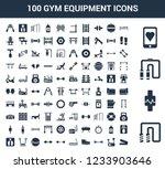 100 gym equipment universal... | Shutterstock .eps vector #1233903646