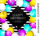 happy birthday greeting card.... | Shutterstock .eps vector #1233905890