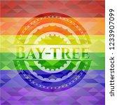bay tree emblem on mosaic... | Shutterstock .eps vector #1233907099