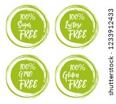 set of round green labels with... | Shutterstock .eps vector #1233912433