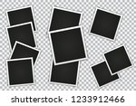 set of photo frame on a... | Shutterstock .eps vector #1233912466