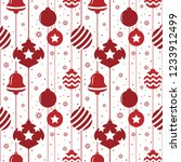 christmas seamless pattern with ... | Shutterstock .eps vector #1233912499