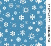 christmas seamless pattern with ... | Shutterstock .eps vector #1233912523