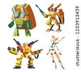 vector cartoon combat robots...   Shutterstock .eps vector #1233913459