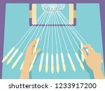 illustration of hands holding... | Shutterstock .eps vector #1233917200