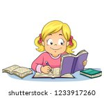 illustration of a kid girl... | Shutterstock .eps vector #1233917260