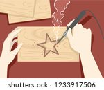 illustration of hands holding a ... | Shutterstock .eps vector #1233917506