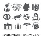 germany icons set | Shutterstock . vector #1233919579