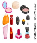 cosmetics isometric collection. ... | Shutterstock .eps vector #1233919669