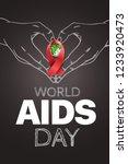 aids awareness symbol. world... | Shutterstock .eps vector #1233920473