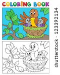 coloring book bird image 5  ...   Shutterstock .eps vector #123392134