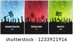 silhouettes crowd of people... | Shutterstock .eps vector #1233921916