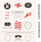 collection of labels and vector ... | Shutterstock .eps vector #123392320