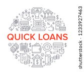 finance  money loan circle... | Shutterstock .eps vector #1233927463