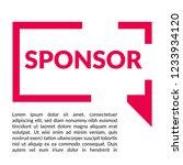 sponsor sign label. sponsor... | Shutterstock .eps vector #1233934120